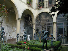 The Sculpture courtyard - bronze statues by Professor Marcello Tommasi
